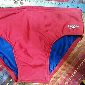 Speedo Men's Red Swimsuit Bikini - Nylon/Spandex